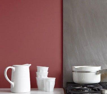 Couleur peinture cuisine marsala lie de vin Tollens Flamant