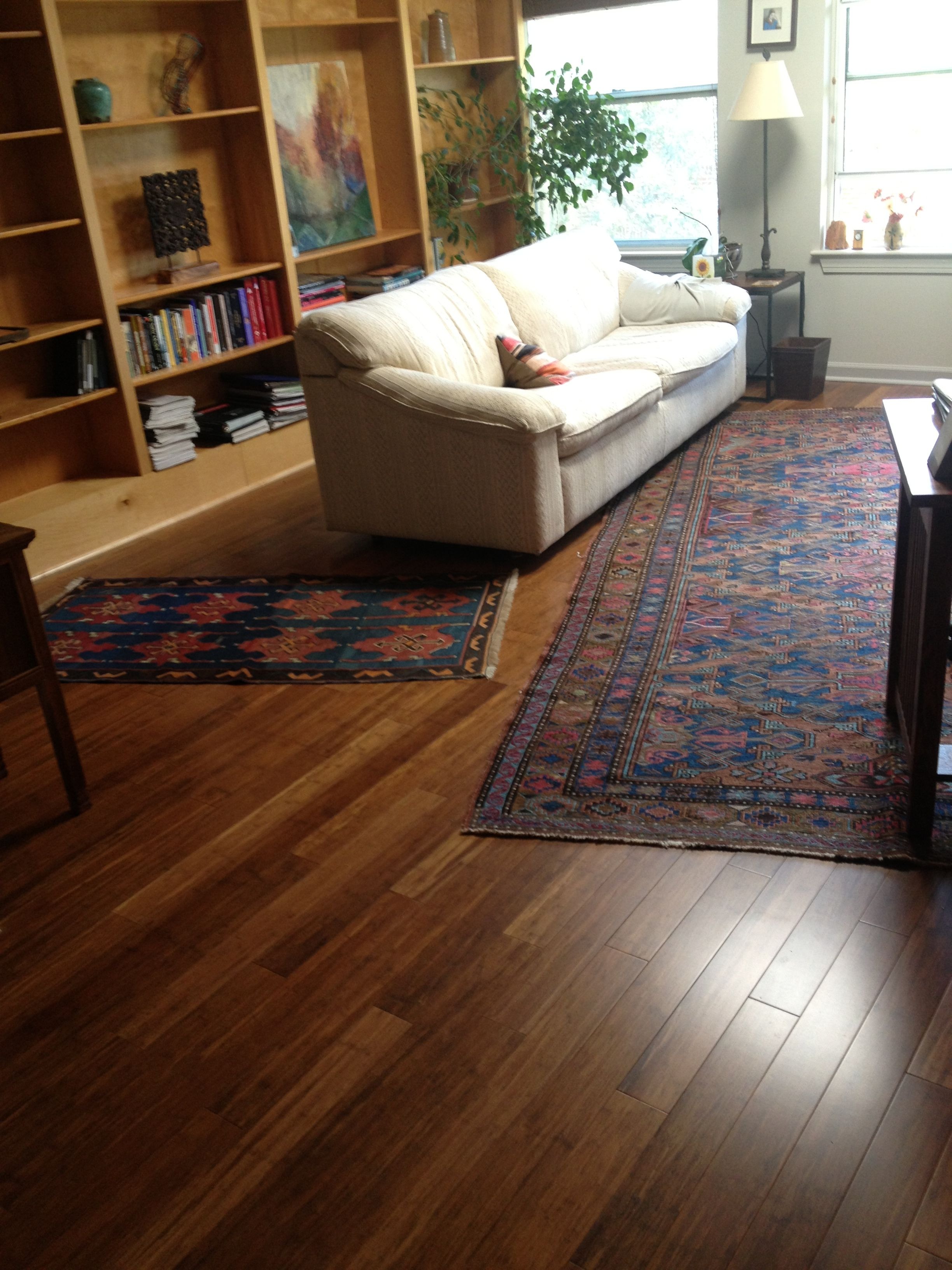 Teragren Synergy Strand Woven Bamboo In Chestnut Helps Make This Unc S Professor S Office A Little More Welc Home Living Room Flooring Projects Home And Living