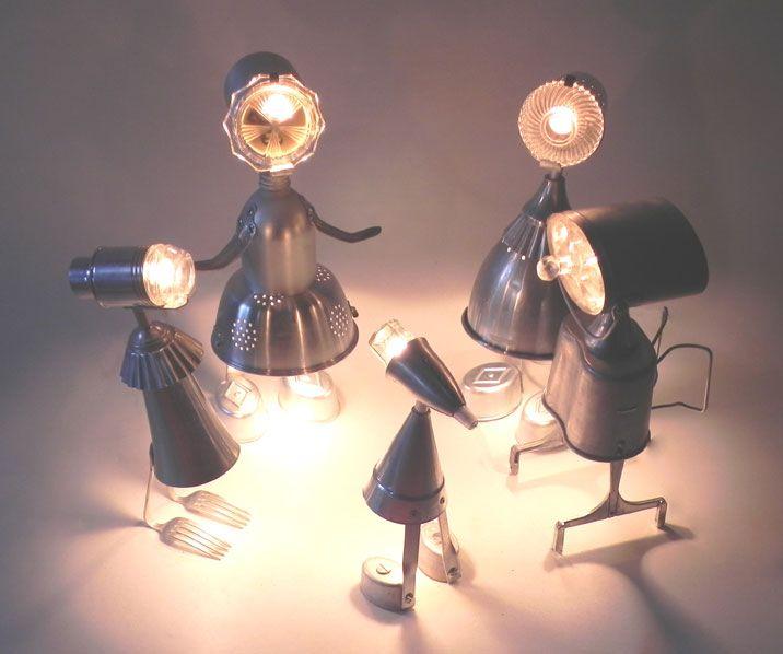 Angèle a des idées lumineuses... | Recyclage, Luminaire, Idée lumineuse