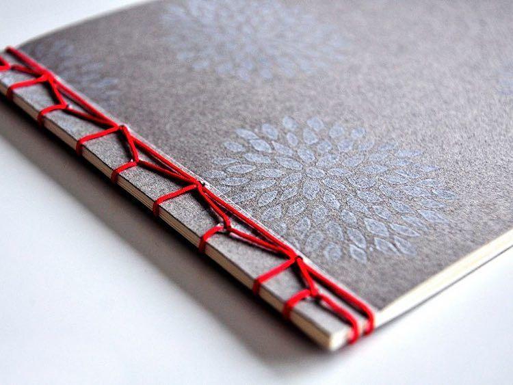 diy anleitung notizbuch mit japanischer bindung selber machen via clevere. Black Bedroom Furniture Sets. Home Design Ideas