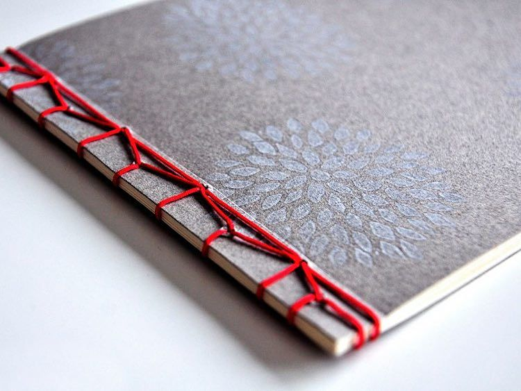 diy anleitung notizbuch mit japanischer bindung selber machen via bindung. Black Bedroom Furniture Sets. Home Design Ideas