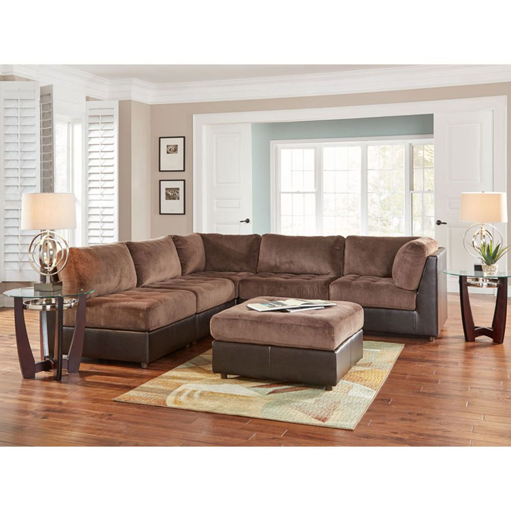 Best 11 Piece Hennessy Modular Sectional Living Room Collection 400 x 300