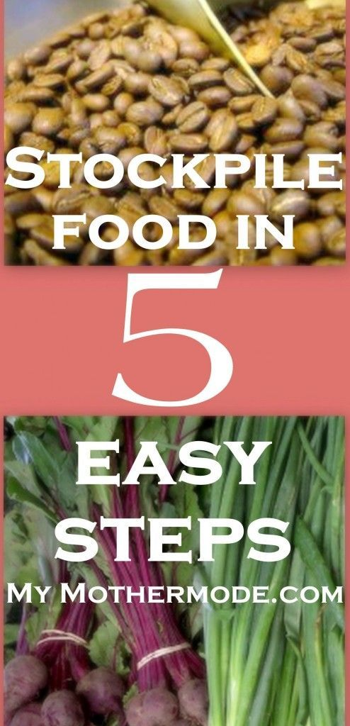 How to Stockpile Food: 5 easy steps to saving money and time- and to being prepared in case of an emergency. http://www.mymothermode.com/2014/02/how-to-stockpile-food-5-easy-steps/