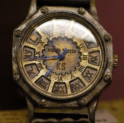 Steampunk Flyback Octagone Handmade Watch -- $243 -- from revolt70 on etsy.com