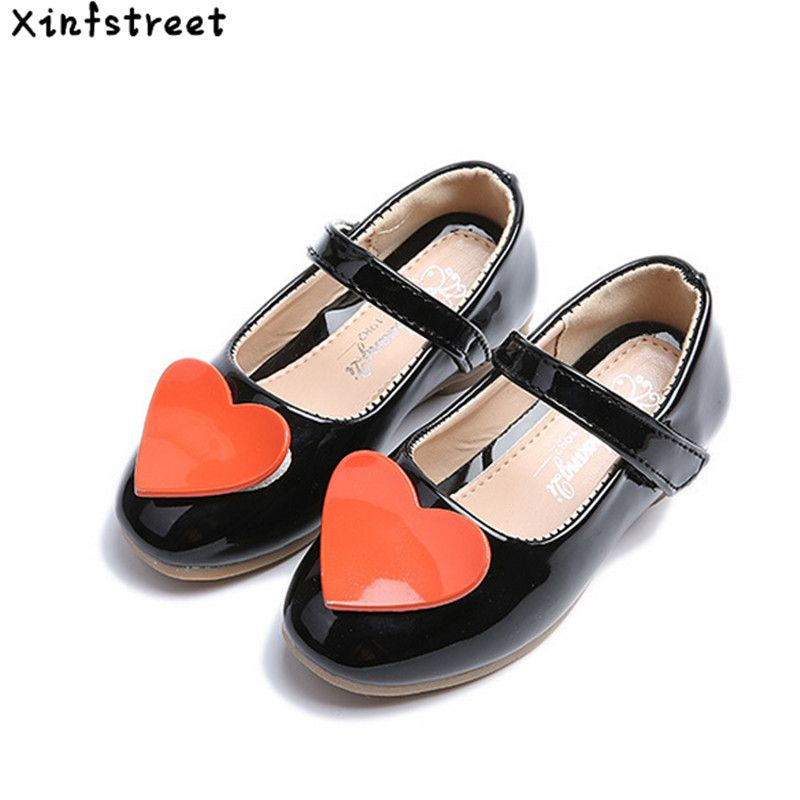 bbbfadead223 2017 Girls Shoes Kids Cute Little Children Shoes For Girls Patchwork Pu  Leather Designer Singel Flats