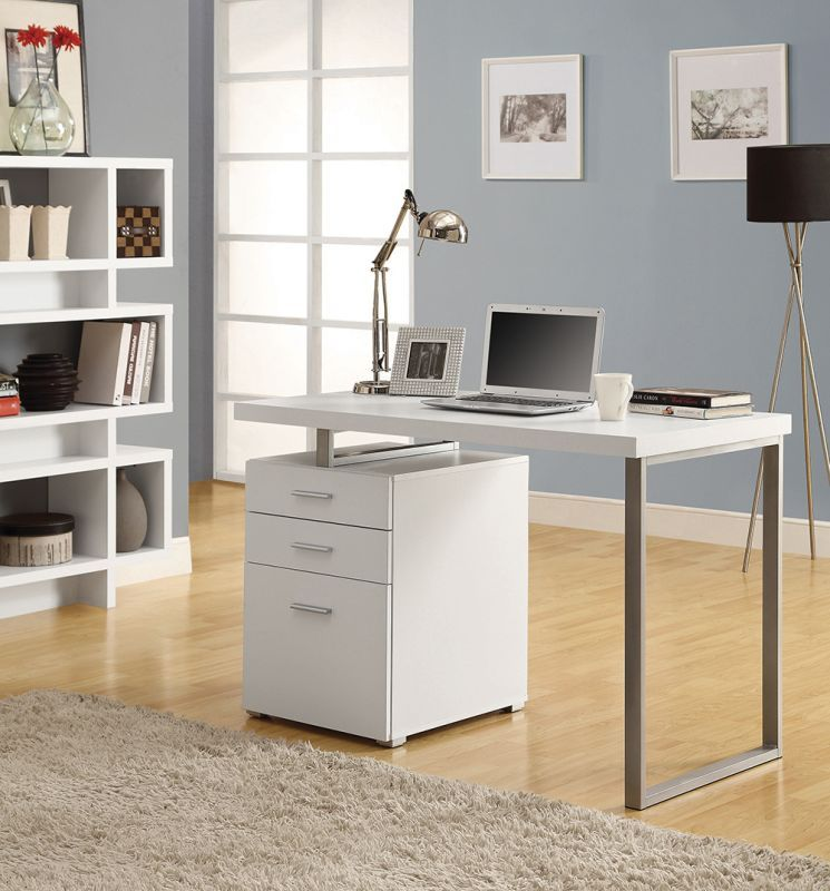 Monarch Specialties Corner computer desk set I 3 Piece Hollow-Core Computer Desk White Furniture Desks Computer Desks