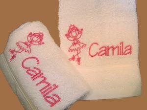 Toalha de Mão Infantil bordado BAILARINA