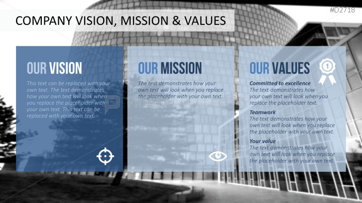 Vision  Mission Statements Powerpoint Template  Company Profile