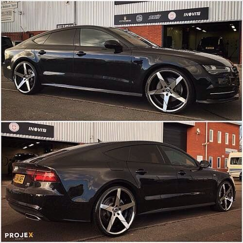 Black Audi With Inch Forgiato Rims Cars And Motorcycles - Show rims on car before you buy