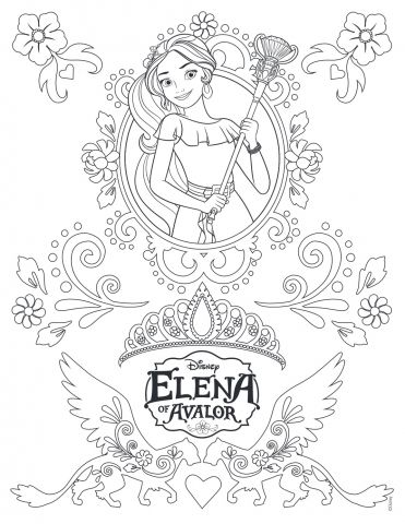 Princess Elena Of Avalor Disney Coloring Pages Printable And Book To Print For Free Find More Online Kids Adults