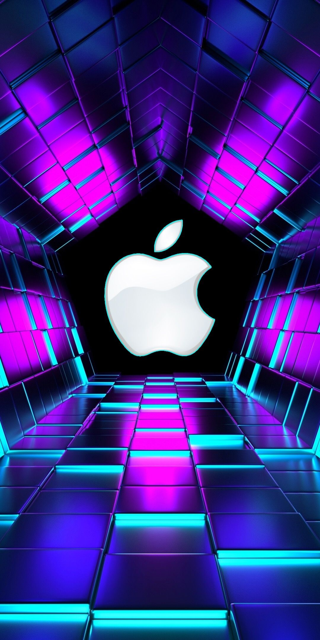 Pin By Brave Lord On My Apple Logos Purple Wallpaper 3d