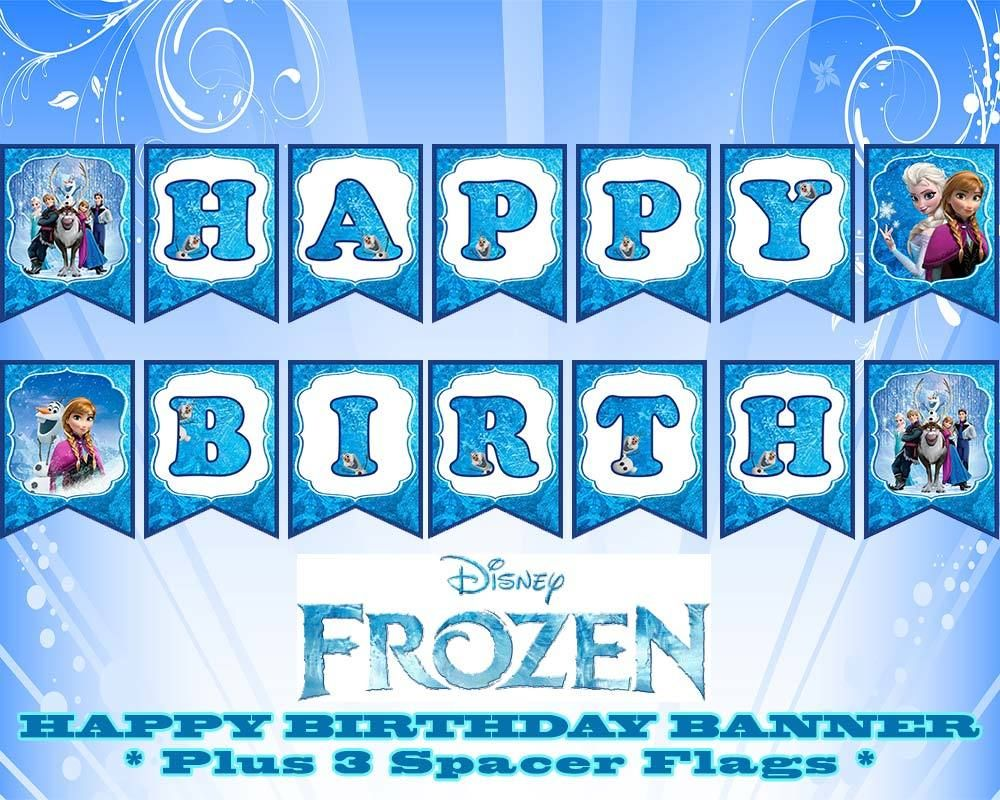 disney frozen happy birthday banner