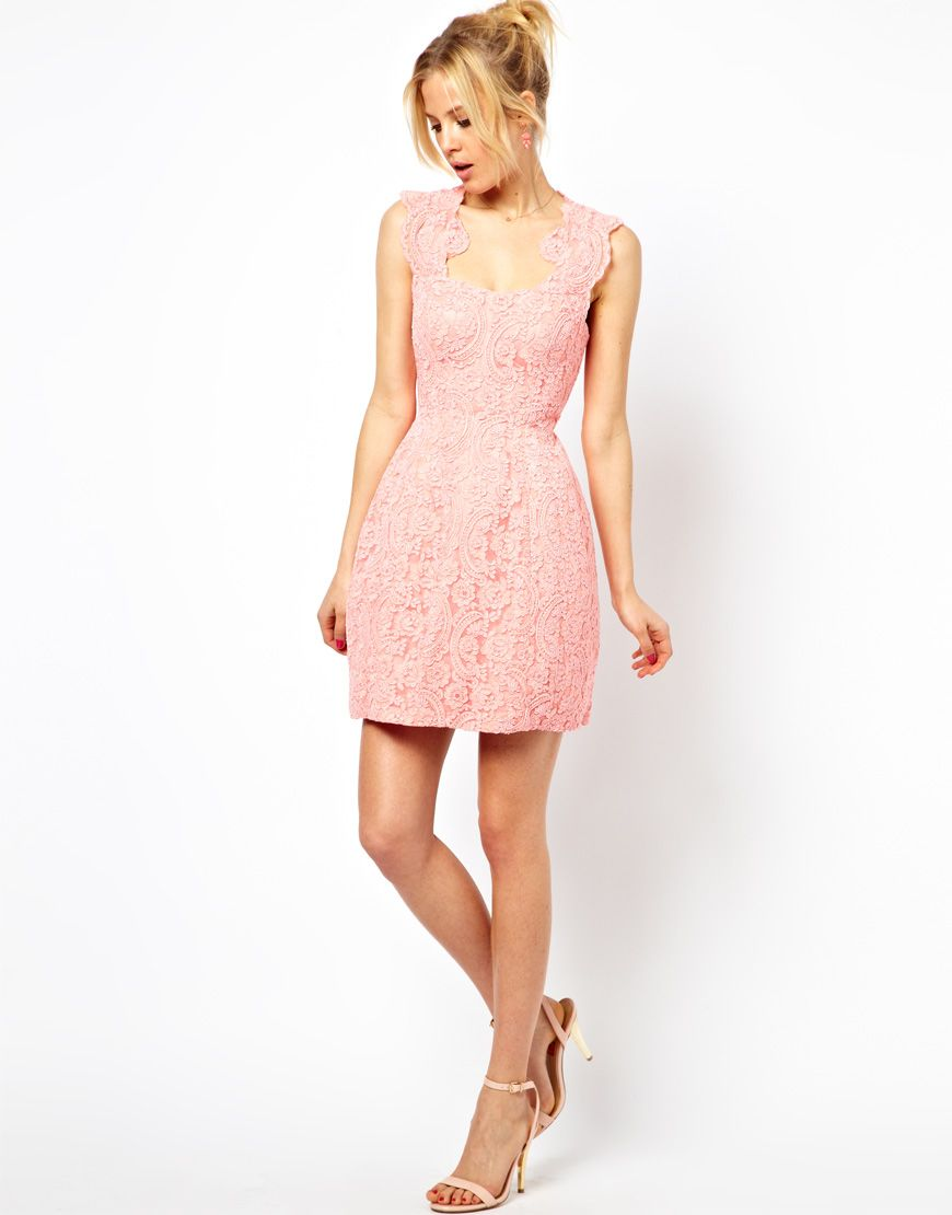 ASOS Cupped Structured Dress In Lace | Style | Pinterest | Trapillo