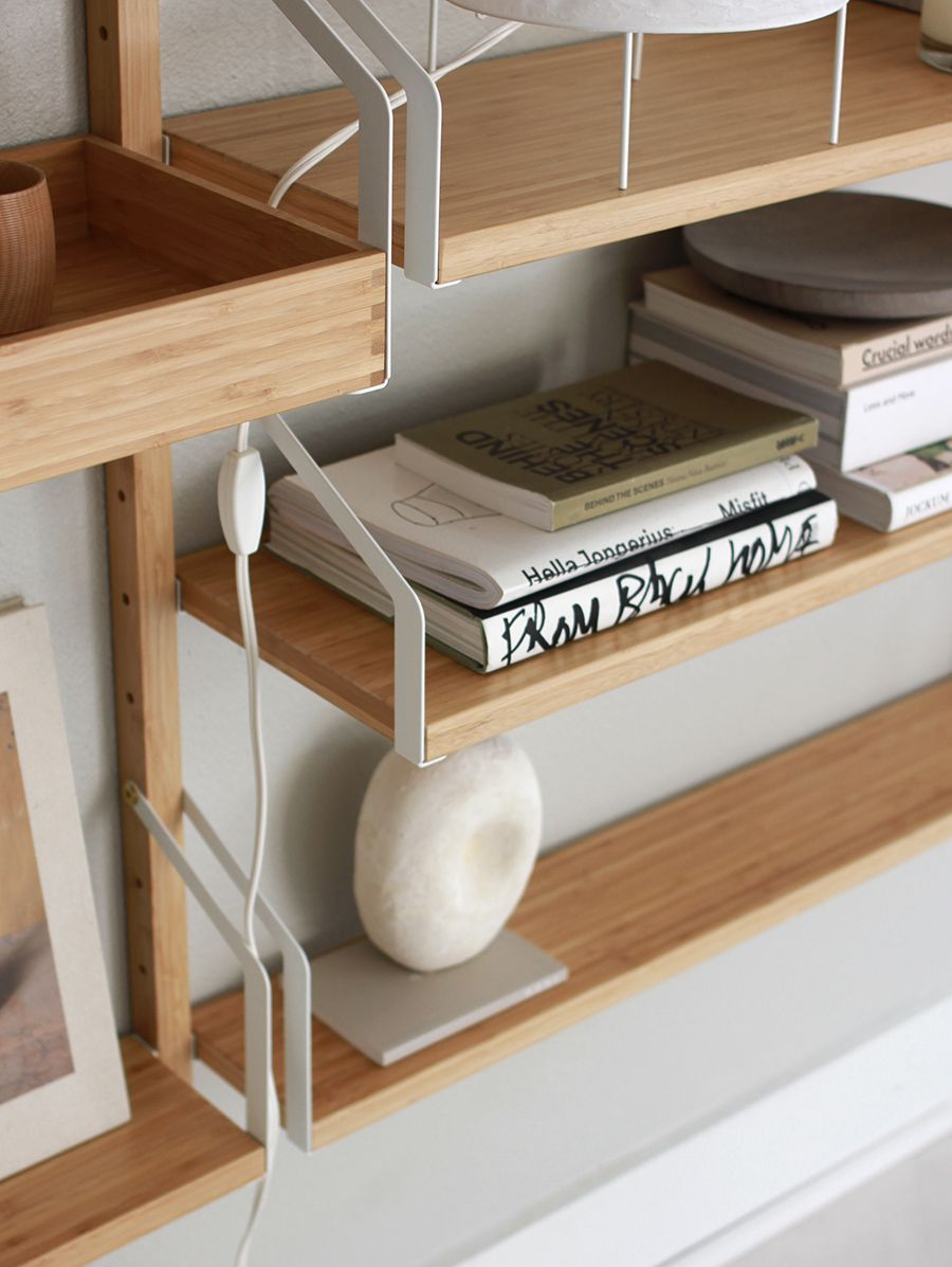 ikea s svalnas shelving shelves with bamboo