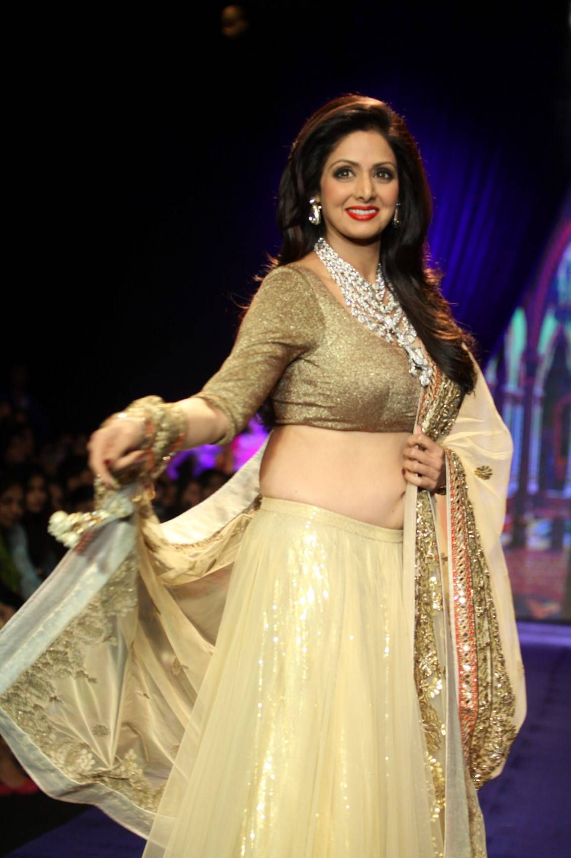 Sridevi Nude Boobs Ideal latest sridevi ramp walk photos at iijw 2014 | actressfoto