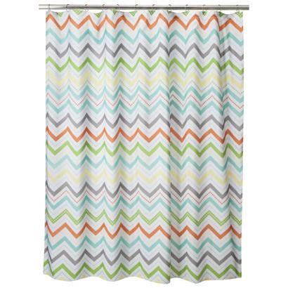 Elegant Circo® Chevron Shower Curtain   Orange