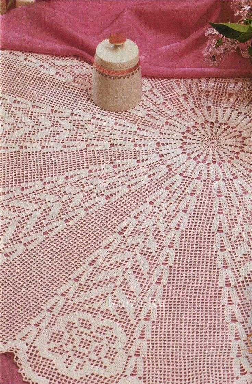 Manteles de ganchillo: Fotos de patrones y diseños - Manteles de ...