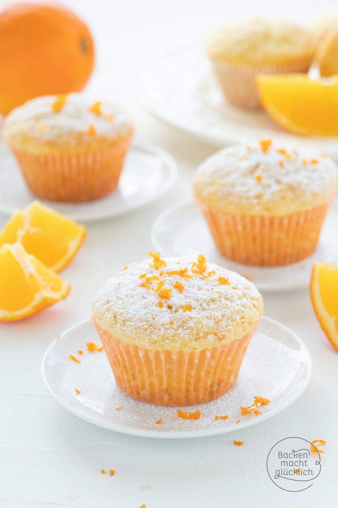 Schnelle, fluffige Orangenmuffins | Backen macht glücklich