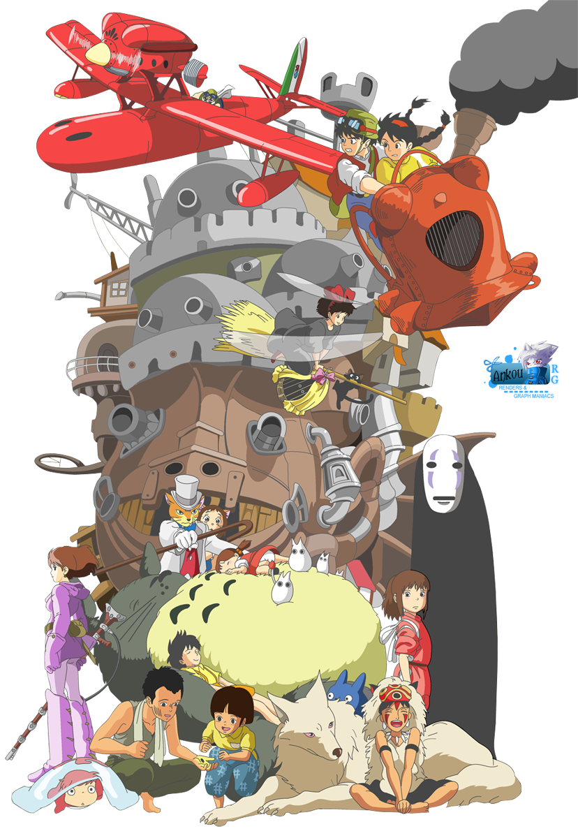 Render Studio Ghibli Renders Chateau Ambulant Porco Rosso Kiki