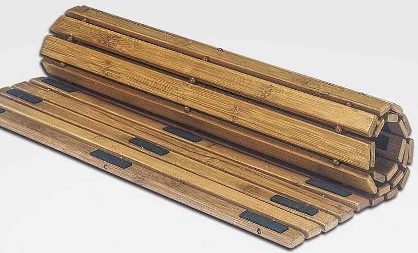 Badematte, Kleine Wolke, »Level Holzmatte«, Höhe 8 mm, Bambus