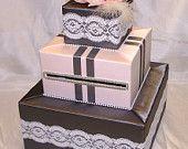 Elegant Custom Made Wedding Card Box-Lace accents