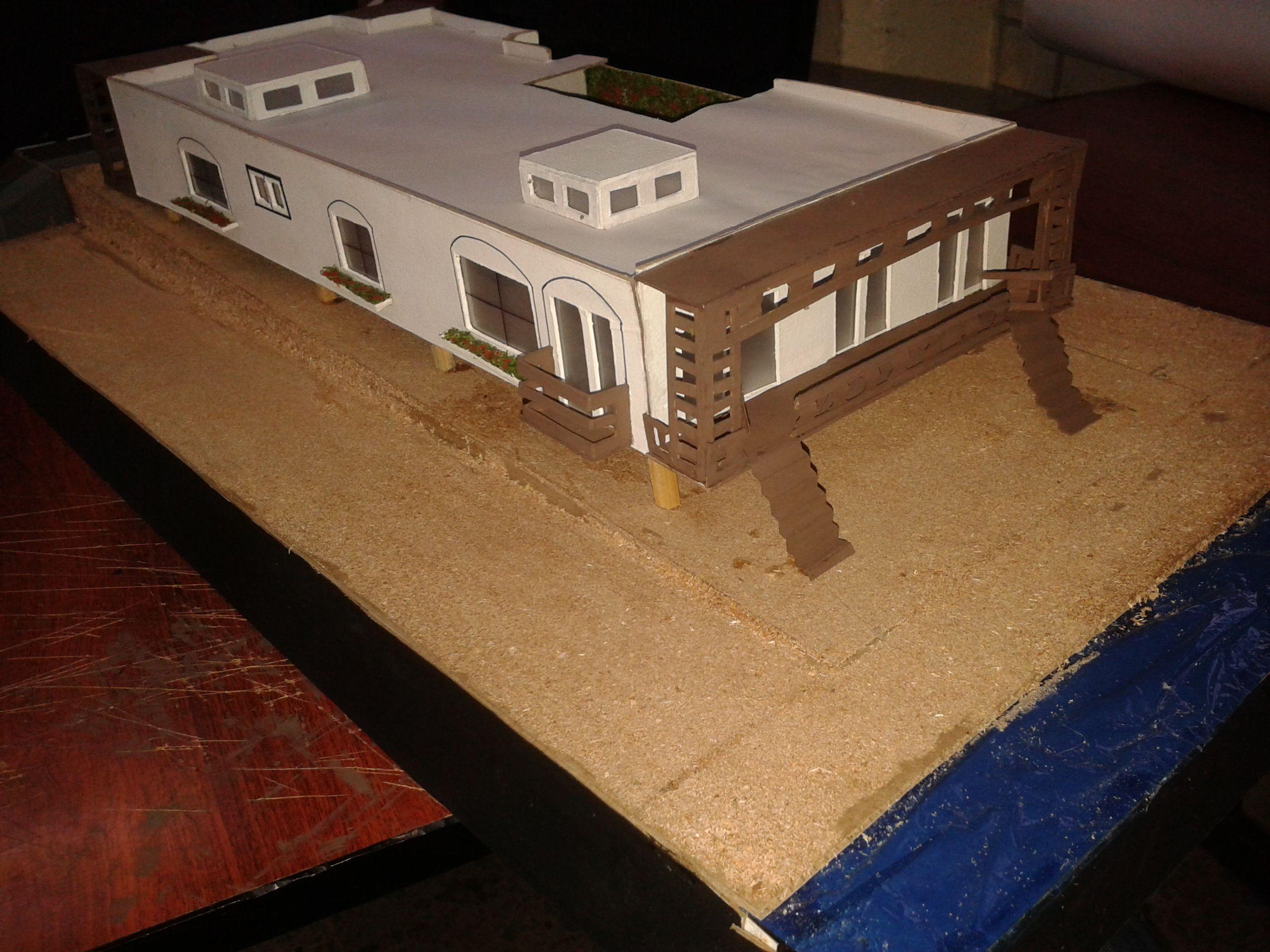 Casa En Playa Maqueta 1 A O Arquitectura Maquetas Arquitectura  # Muebles Tina Calamocha