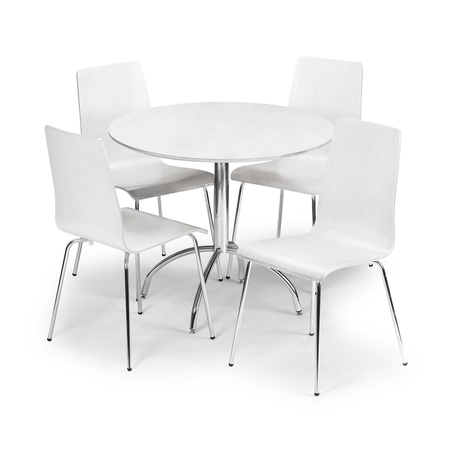 Enjoyable Mandy White 90Cm Round Dining Table With 4 Chairs Next Day Dailytribune Chair Design For Home Dailytribuneorg