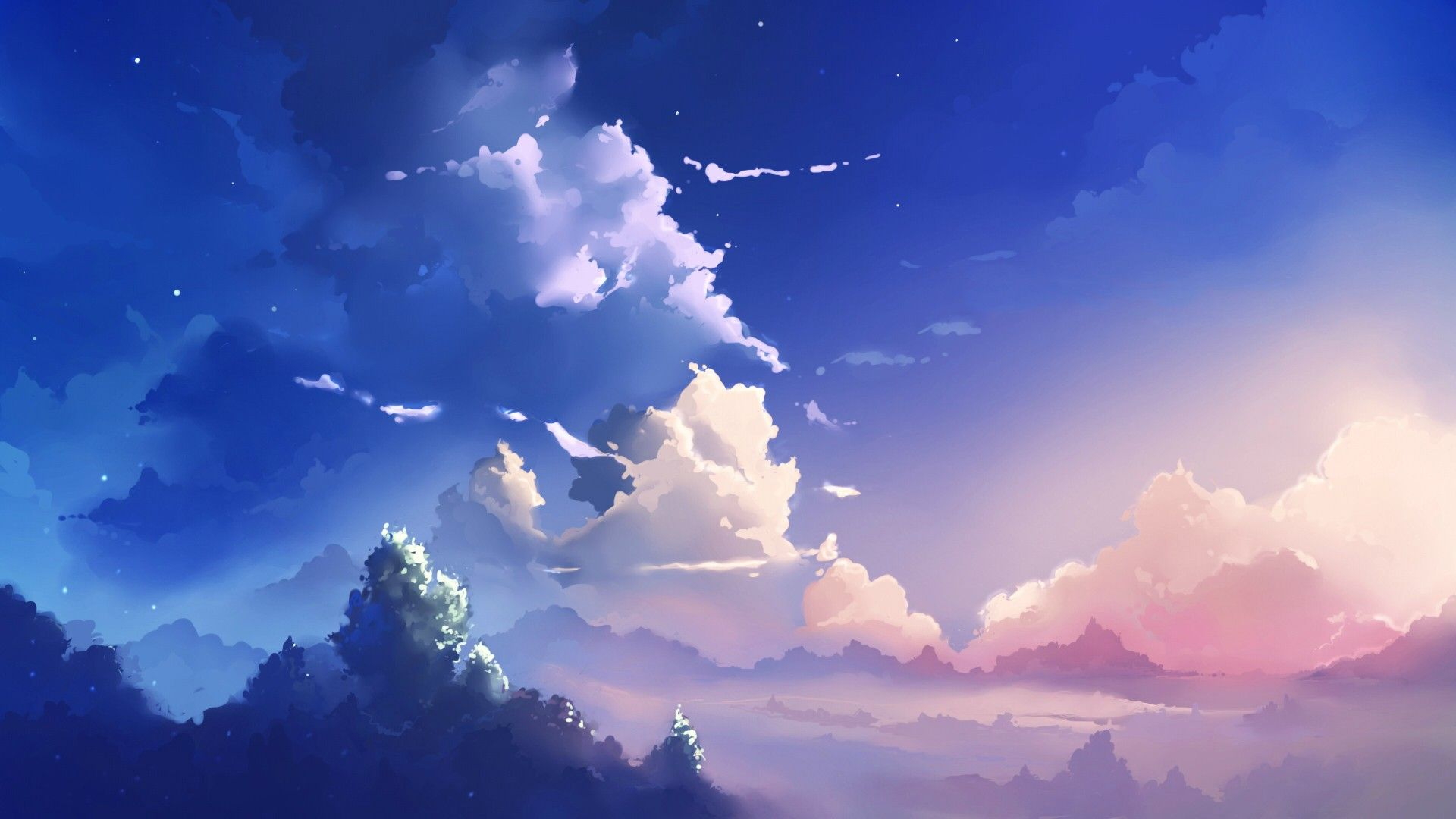 Colourful Sunset 1920x1080 Anime Scenery Wallpaper Anime Backgrounds Wallpapers Anime Scenery