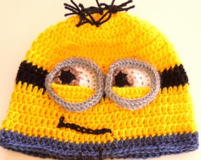 Minion Crochet Pattern, Crochet Beanie, Easy Crochet Pattern ...