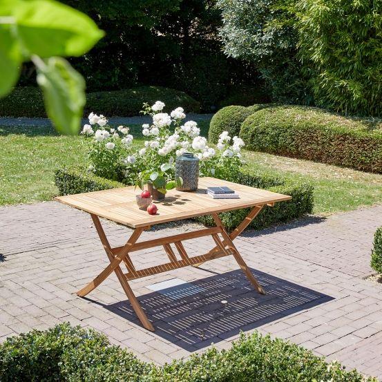 Table de jardin en bois d\'acacia #mobilierdejardin ...