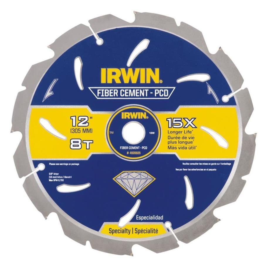 Irwin Fiber Cement Marathon 12 In 8 Tooth Carbide Circular Saw Blade 4935625 Circular Saw Blades Circular Saw Blade