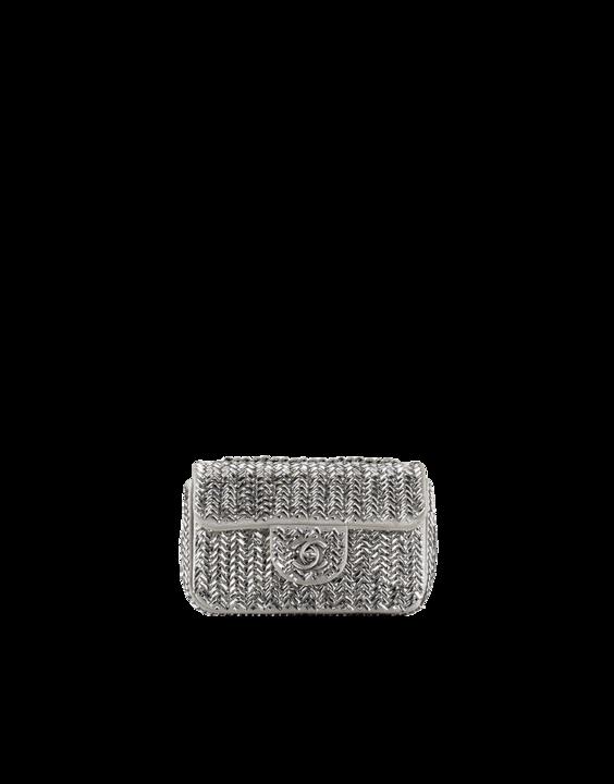 Diamanté embellished flap bag - CHANEL