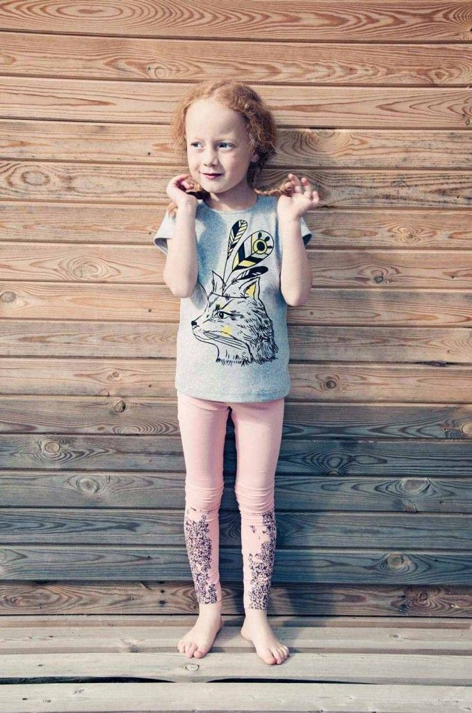 adce00eeadd40 Hebe SS14 mystical animal printed kids T-shirts and printed leggings