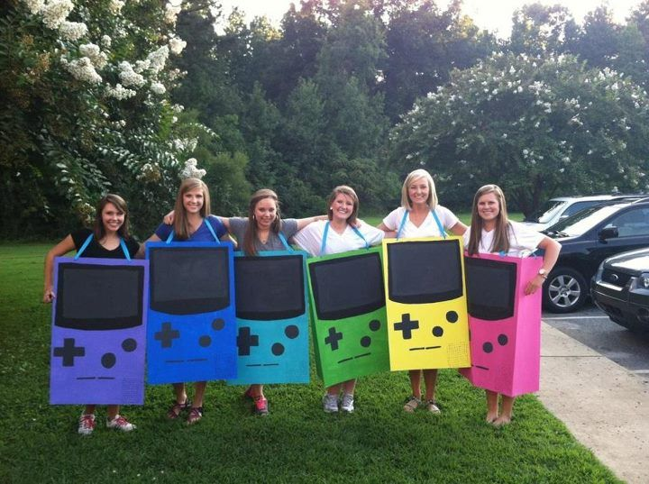 Gameboy colors for 90s party!
