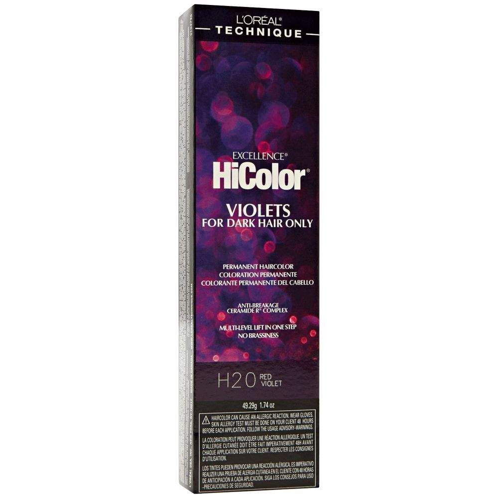 H20 Red Violet Permanent Hair Color Permanent Hair Color Dyed