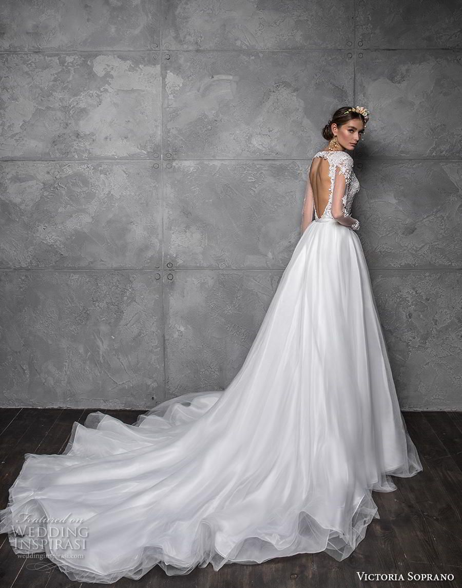 48804de41e victoria soprano 2020 bridal long sleeves illusion bateau sweetheart neck  full embellishment elegant fit and flare wedding dress a line overskirt  keyhole ...