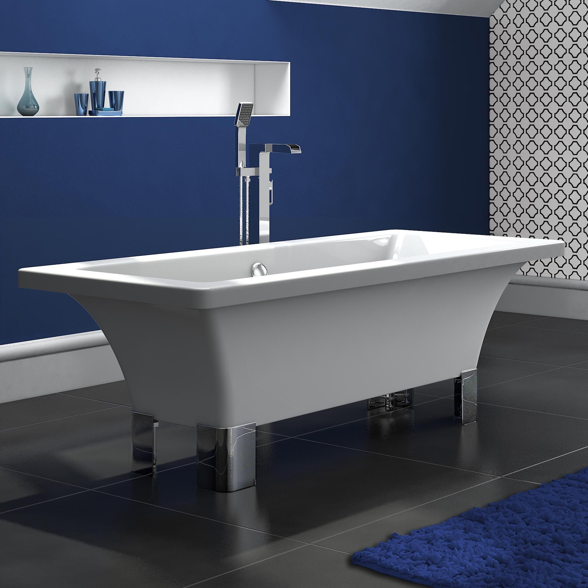 1520mm Modern Flat Top Bath - Soak.com | ideas for boats | Pinterest ...