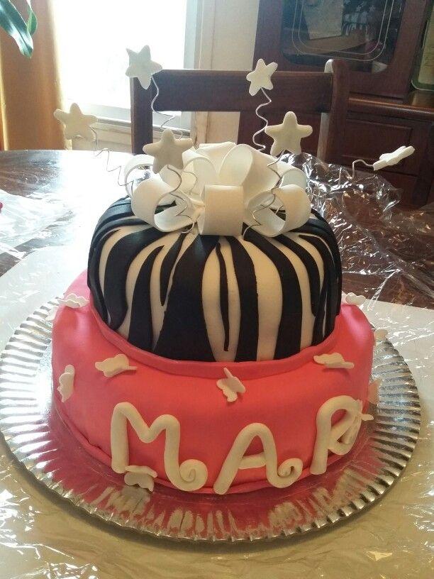 Torta de cumpleaños hecha por Iris Sílvina.  Monte Cristo,  provincia de Córdoba.  Argentina.
