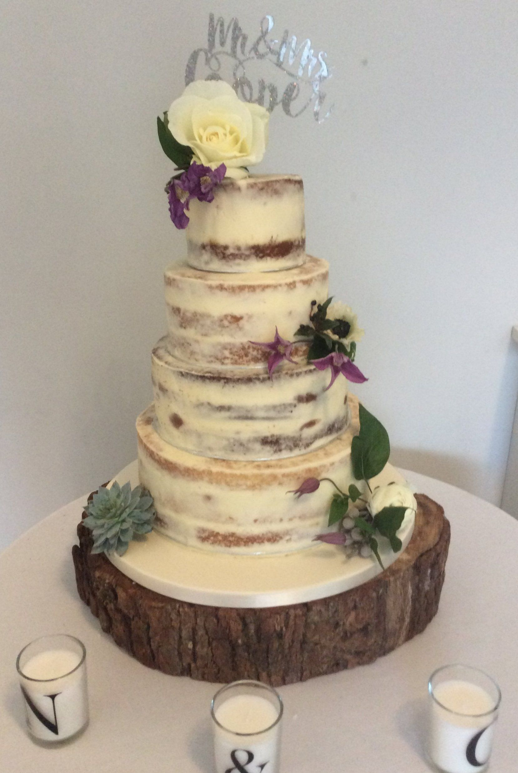 Naked Sponge Wedding Cake