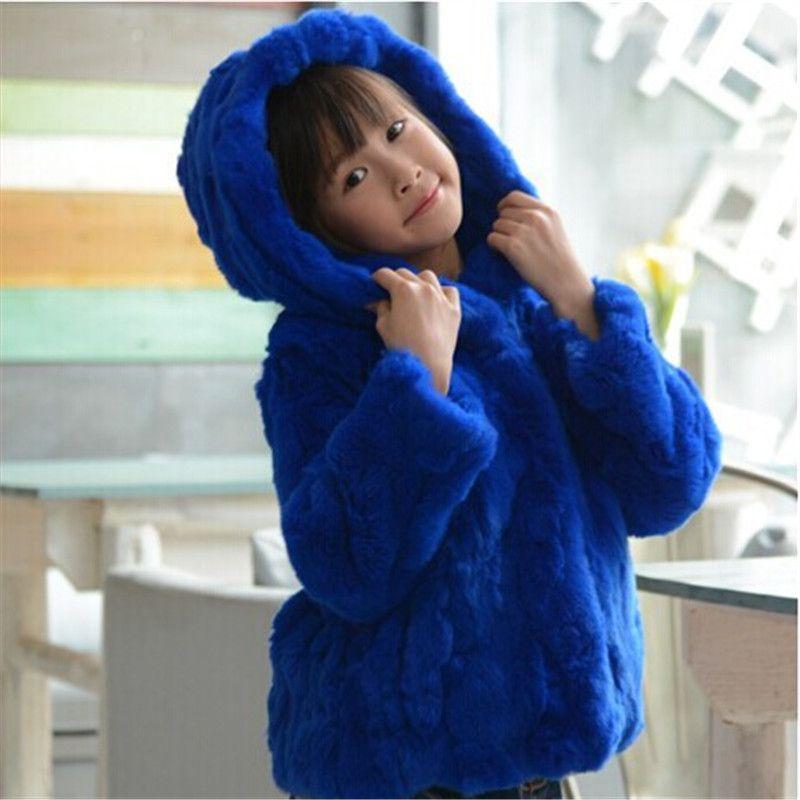 79617aefa Fashion Children s Real Rabbit Fur Coat Winter Warm Girls Warm Thick ...