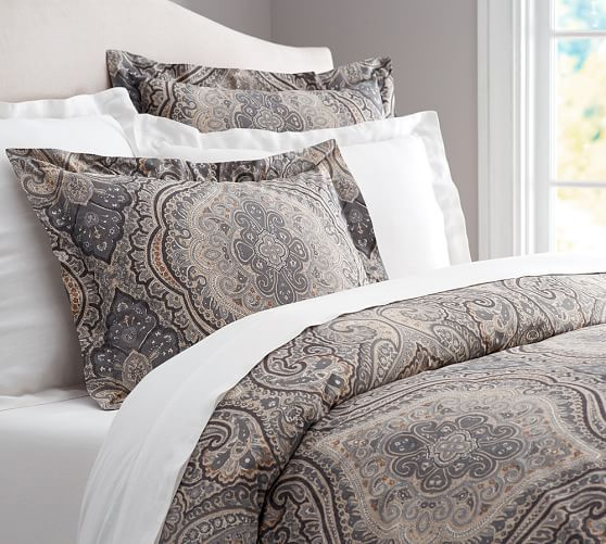 Beale Paisley Duvet Cover Sham Pottery Barn With Images