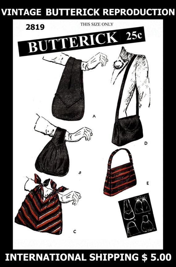 Fabric Sewing Pattern Rare Vintage BUTTERICK # 2819 Women