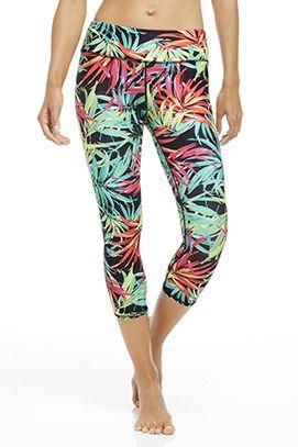 5de9cd22986606 Salar Capri - Fabletics Printed Yoga Pants, Printed Leggings, Athletic  Wear, Workout Gear