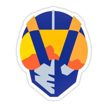 Blue Las Vegas Aviators Logo Sticker By Mimietrouvetou Logo Sticker Cool Logo Las Vegas