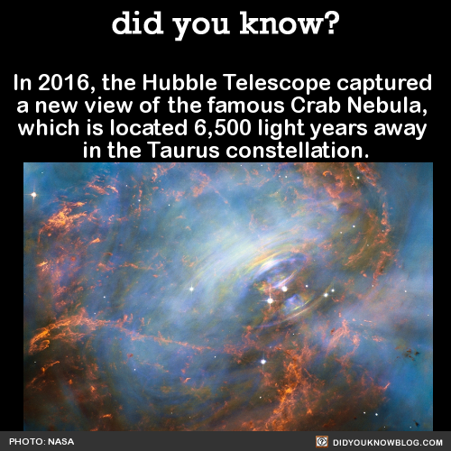 In 2016, the Hubble Telescope captured a new view of the ...