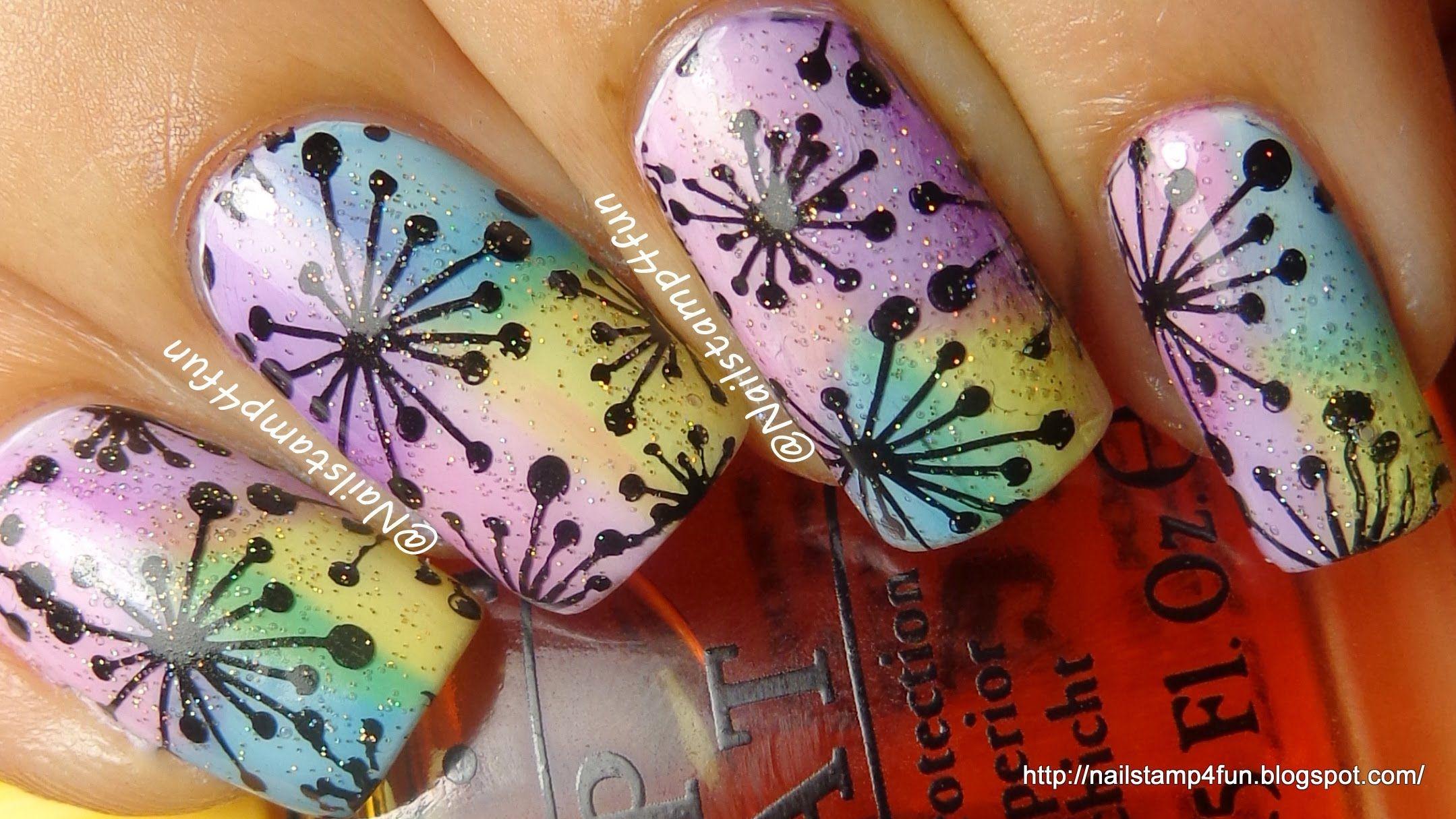 Nail Stamping Tutorial Using OPI Sheer Tints | Nails - How to ...