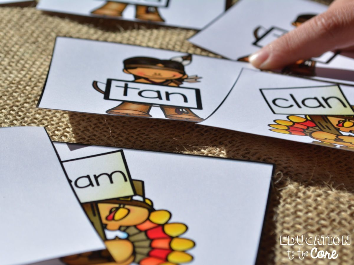Education To The Core Free Turkey Rhyming Game