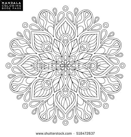 Flower Abstract Coloring Pages : Free printable mandala coloring pages coloring pages pinterest