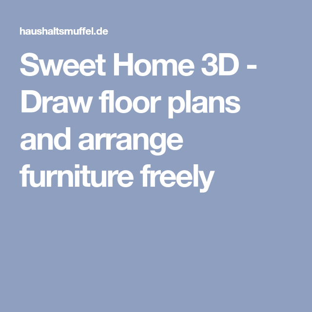 Draw Floor Plans And Arrange Furniture