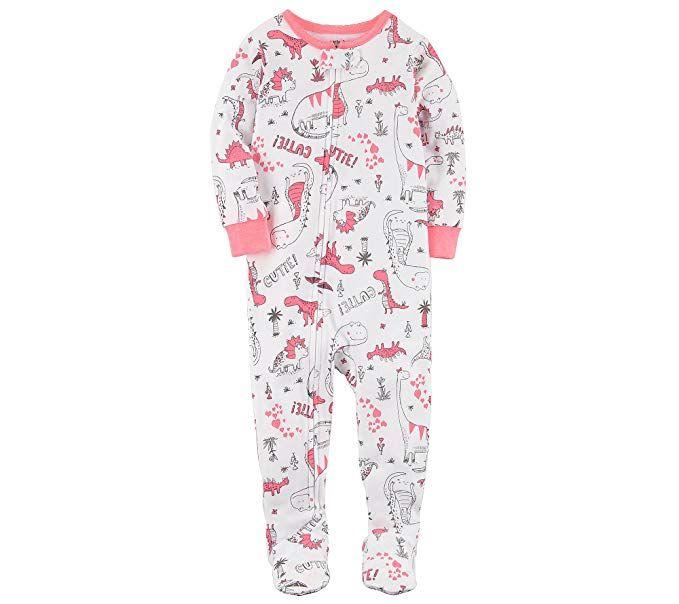 520c48297b3a Carter s Baby Girls  One Piece Dinosaur Snug Fit Cotton Pajamas 12 ...